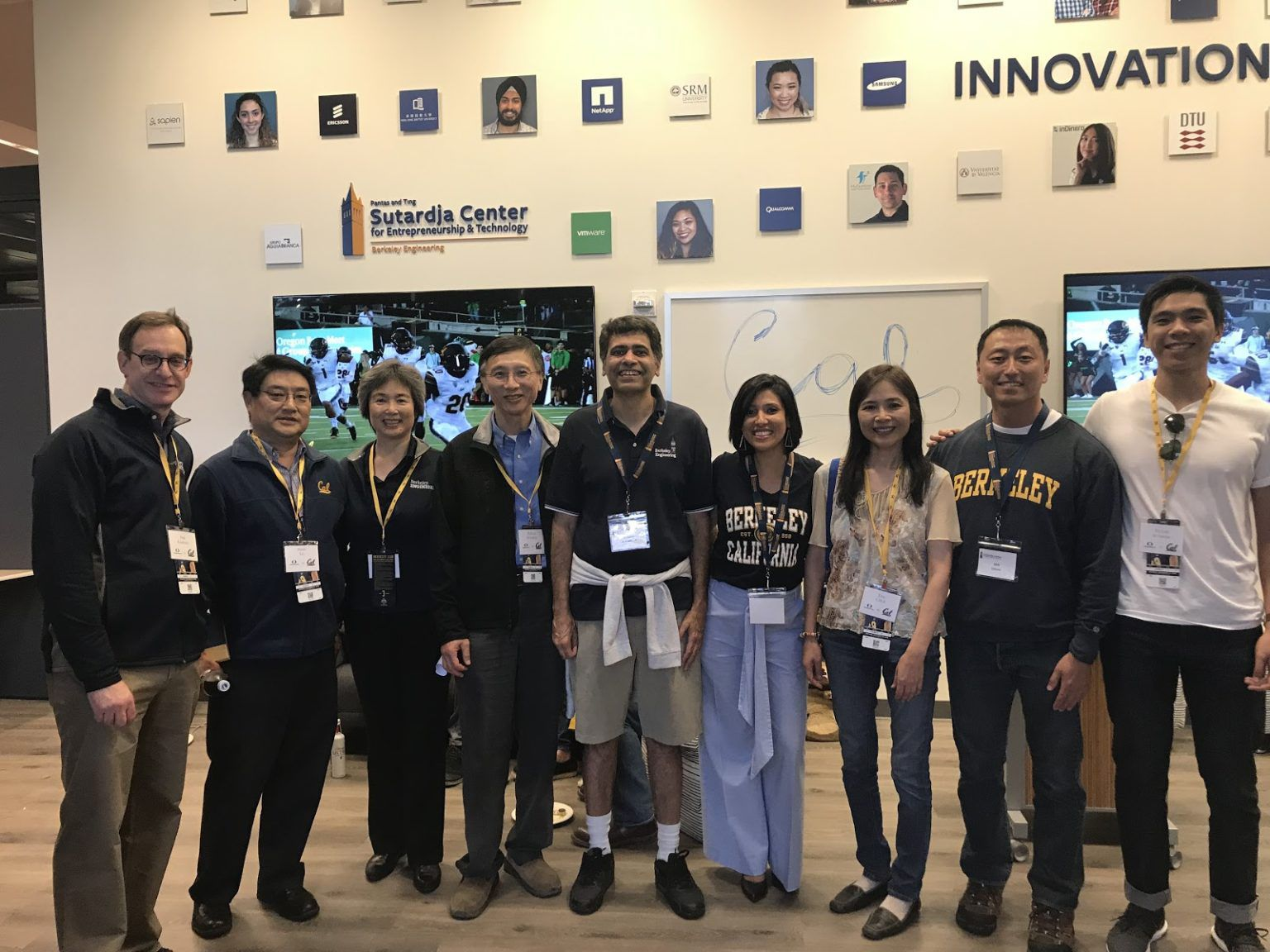 Dr. Pantas and Ting Sutardja at U.C. Berkeley Sutardja Center of Engineering & Technology (pictured 4th from the left and 3rd from right)